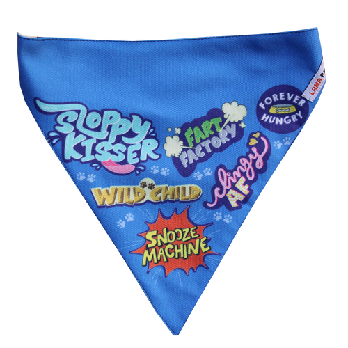 Best Dog Ever (Blue) - Adjustable Dog Bandana
