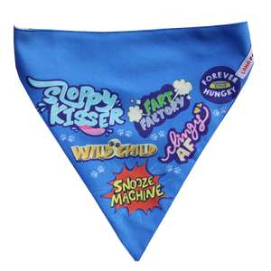 Best Dog Ever (Blue) - Adjustable Bandana