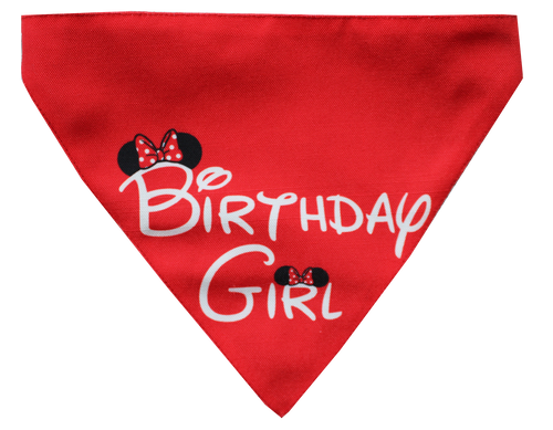 Birthday Girl - Adjustable Dog Bandana/ Dog Scarf