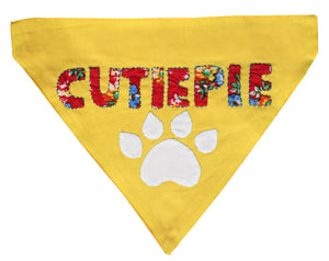 CutiePie - Handmade Applique Work Adjustable Dog Bandana