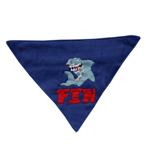Handmade Personalised Applique Work Dog Bandana - Name & Motif