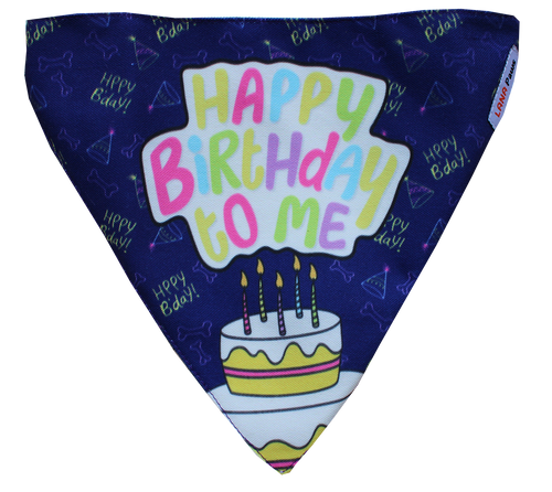 Lana Paws Happy Birthday dog bandana scarf