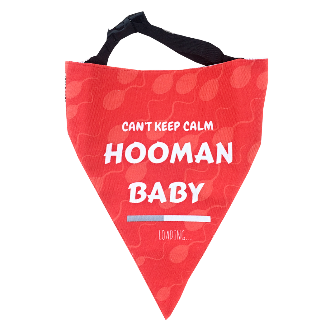 Hooman Baby Loading - Pregnancy Announcement Dog Bandana