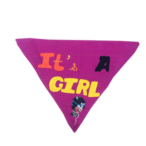 It's a Girl - Handmade Patchwork Slip-on Dog Bandana (Limited Edition)