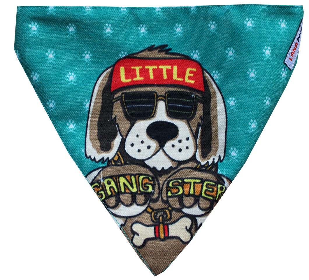 Lana Paws little gangster dog bandana or dog scarf