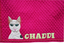 Double Trouble Personalized Applique Work Dog Mat and Dog Blanket