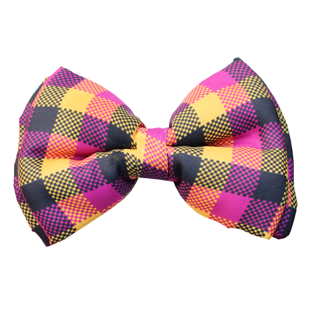 Lana Paws winter dog bow tie plaid