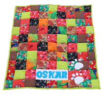 Dog Mat/ Dog Blanket in Patchwork - Personalized