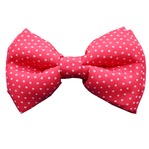 Pink polka dots Lana Paws dog bow tie