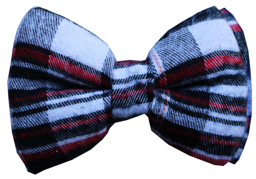 Lana Paws plaid dog bow tie
