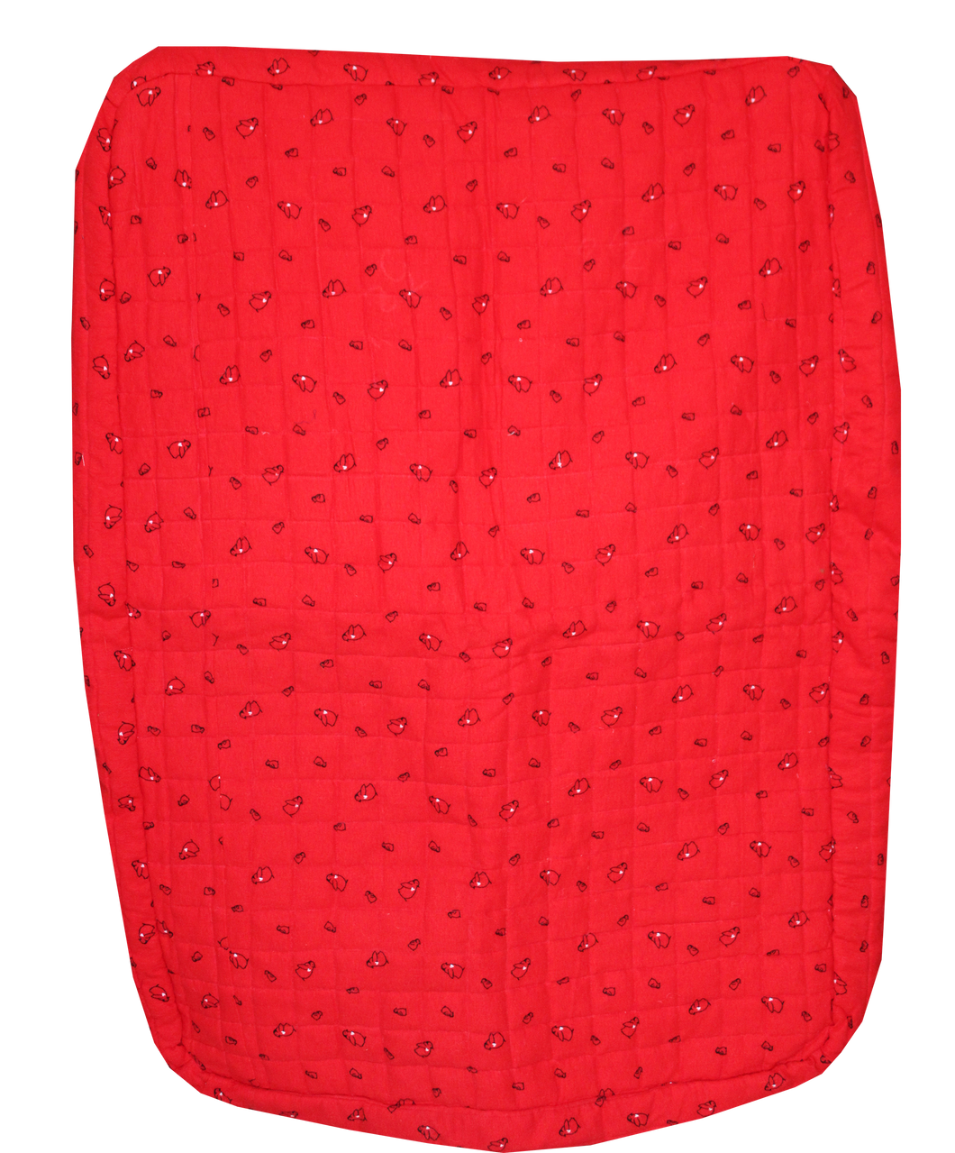 Dog Mat in Red Fleece - Large