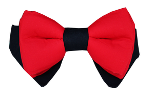 dog bow collar in red Lana Paws wedding party attire for dogs