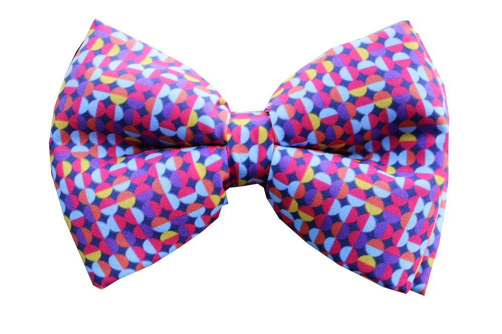 lana paws retro colourful dog bowtie