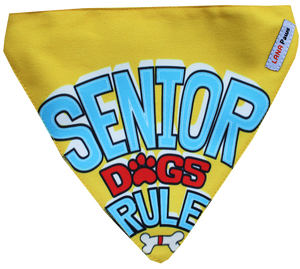Lana Paws senior dogs rule dog bandana for senior dogs