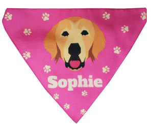 Custom / Personalised Printed Dog Bandana - Adjustable