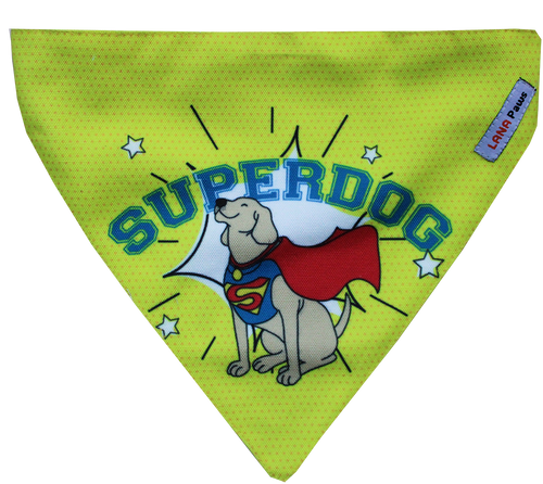 SuperDog/ Superman - Adjustable Dog Bandana/ Dog Scarf