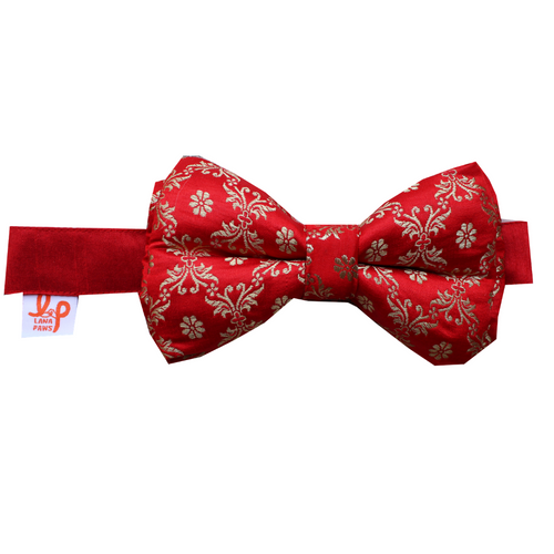 Lana Paws enthic Indian red wedding dog bow tie
