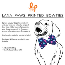 Colourful Polka Dots - Adjustable Dog Bowtie
