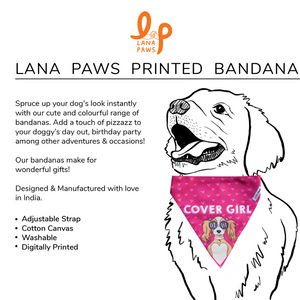 Diva - Cover Girl! - Adjustable Dog Bandana/ Dog Scarf (pink)
