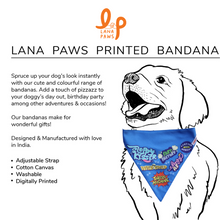 Best Dog - Adjustable Dog Bandana/ Dog Scarf (blue)