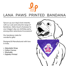 Little Sister (Lil' Sis) - Adjustable Dog Bandana/ Dog Scarf (purple)