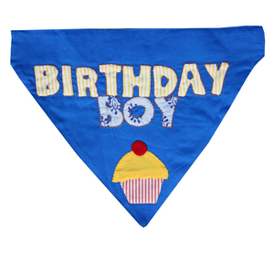 Lana Paws birthday boy bandana in blue