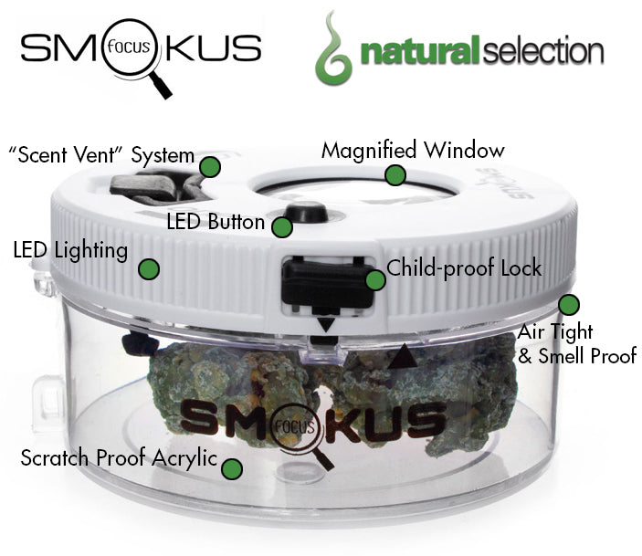 Smokus Focus Jet Pack Storage Jar Natural Selection Leeds