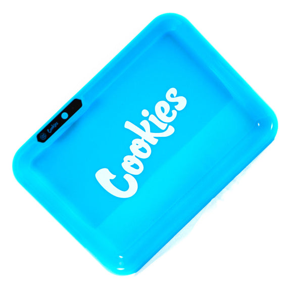 Glow LED Rolling Tray Cookies Blue