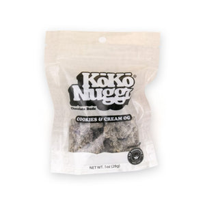 Koko Nuggz Chocolate Buds - Cookies & Cream Flavour 1oz