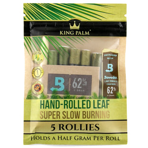 "King Palm ""Rollies"" Pre-roll 5 Pack 0.5 grams"