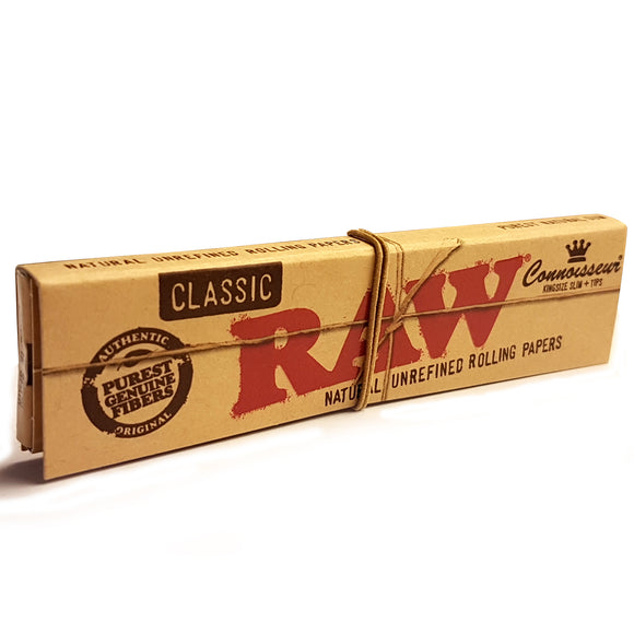 RAW Classic Kingsize Slim Connoisseur Papers & Tips