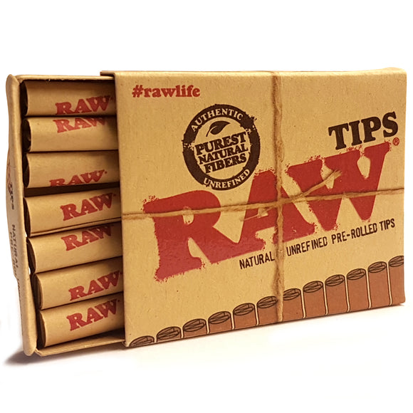 RAW Unrefined Pre-Rolled tips