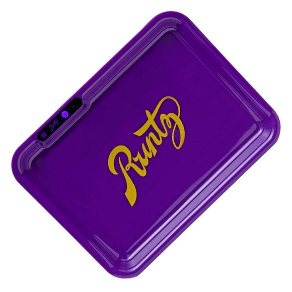 Glow LED Rolling Tray Runtz Purple