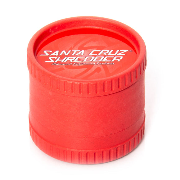 Santa Cruz Shredder 3 Piece Hemp Grinder Red