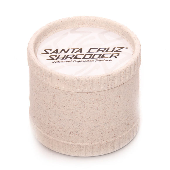 Santa Cruz Shredder 3 Piece Hemp Grinder White