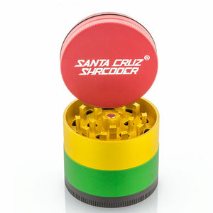 Santa Cruz Shredder 4-Piece Grinder Medium Matte Rasta