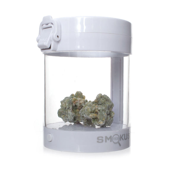 Smokus Focus Eclipse LED Illuminated Storage Jar White