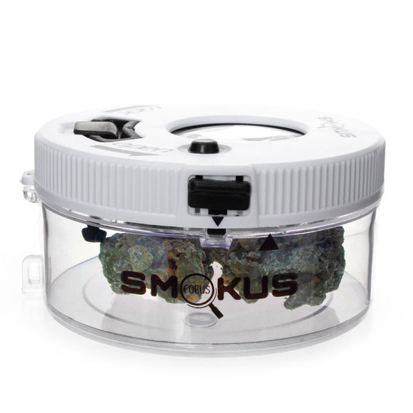 Smokus Focus Jetpack LED Illuminated Storage Jar White