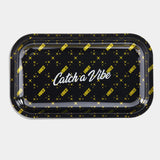 "Vibes Rolling Tray ""Catch a Vibe"" Medium"