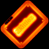 Glow Tray x Zkittlez LED Rolling Tray (Orange)