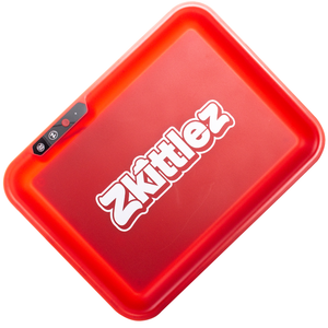 Glow Tray x Zkittlez LED Rolling Tray (Red)
