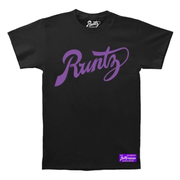 Runtz Script T-Shirt Black & Purple