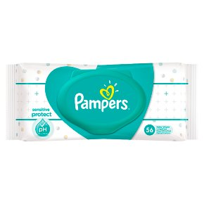 Pampers Sensitive Protect 56 wipes with Cover