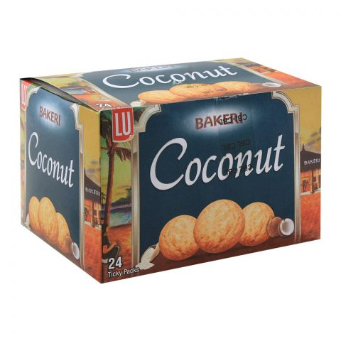 LU Bakeri Coconut Cookies, 24 Ticky Packs