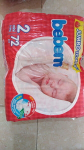 Bebem Jumbo Diaper 2 mini 3 - 6 kg (72 pcs)