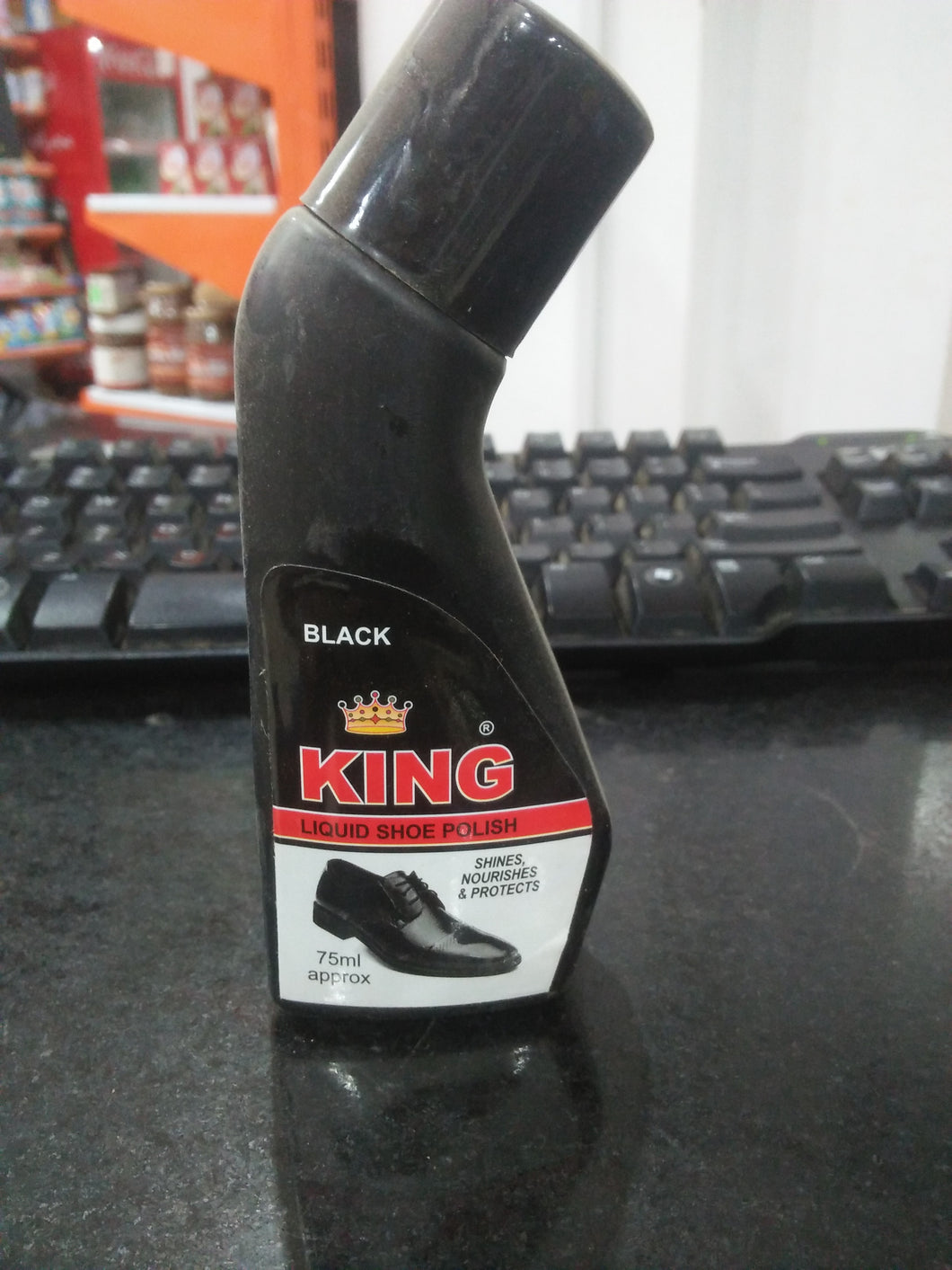 King Liquid Shoe Polish Black 75ml