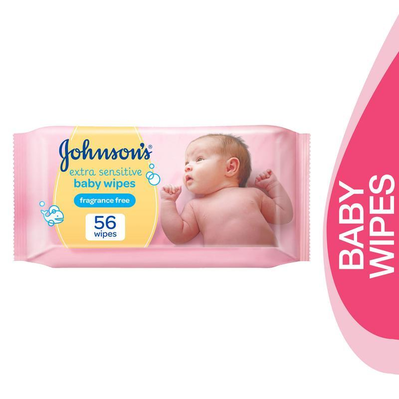 Johnson's Baby Baby Wipes Sensitive 56