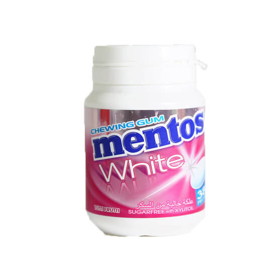 MENTOS WHITE 38PCS SUGARFREE W/ XYLITOL CHEWING GUM
