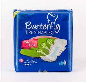 Butterfly Breathables Maxi Thick Extra Large Pads 8pcs