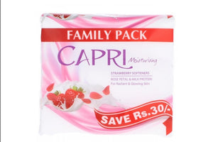 Capri Strawberry Softeners Moisturising Soap Family Pack